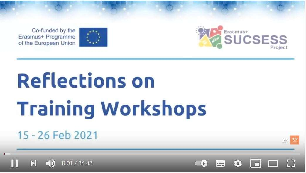 SUCSESS Project Reflections on Training Workshops